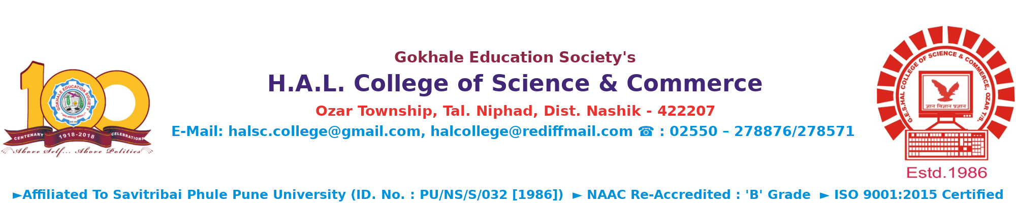 Bachelor of Commerce (B  Com ) – H A L  College of Science and Commerce